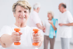 Gaining strenth and energy vital at all ages Royalty Free Stock Photography