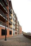 Gainsborough河沿连栋房屋和大厦 免版税库存图片