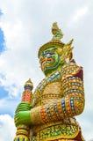 Gaint Guardian. At Wat Phra Kaew Stock Photo