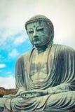 Gaint japansk Buddha på Kamakura Arkivbilder