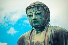 Gaint japansk Buddha på Kamakura Arkivfoto