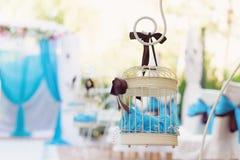 Gaiola branca decorada Fotografia de Stock Royalty Free