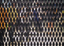Gaiola do metal no fundo de madeira Imagens de Stock Royalty Free