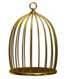 Gaiola dourada Imagem de Stock Royalty Free