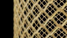 A gaiola dourada com o DOF diferente capaz de dar laços em sem emenda ilustração stock