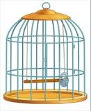Gaiola para pássaros. Imagens de Stock Royalty Free