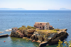 Gaiola protected area and abandoned island. At Posillipo, Naples, Italy stock image