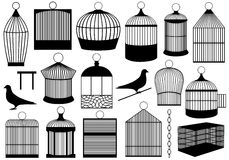 Gaiolas de pássaro Fotografia de Stock Royalty Free