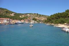 Gaios in der Paxos Insel Griechenland Lizenzfreie Stockbilder