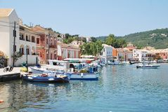 Gaios harbour, Paxos Stock Photography