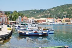 Gaios harbour, Paxos Royalty Free Stock Photo