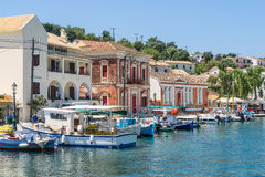 Gaios on the island of Paxos Stock Photos
