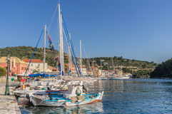 Gaios on the Island of Paxos stock images