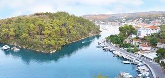 Gaios landscape Paxos island Greece royalty free stock photos
