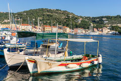 Gaios old port Royalty Free Stock Photography