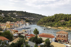 Gaios of paxos island, greece Royalty Free Stock Photo