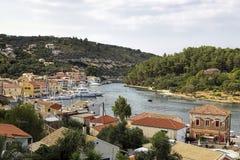 Gaios of paxos island, greece Royalty Free Stock Photo
