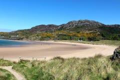 Gairloch海滩, Gairloch,西部苏格兰 免版税图库摄影