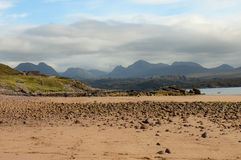 Gairloch, North-West Scotland beach on a sunny day stock photography