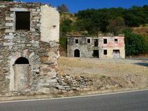 Gairo vecchio. Ruins in old sardinian village Stock Photo