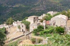 Gairo Vecchio, Sardinige, Italië stock foto's