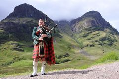Gaitas de fole escocesas fotografia de stock