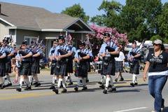gaitas en el desfile Foto de archivo libre de regalías