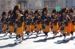 Gaitas en el desfile del día del St. Patrick de Nueva York Foto de archivo libre de regalías