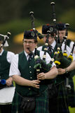 Gaitas - juegos de la montaña - Escocia Imagenes de archivo