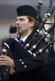 Gaitas - juegos de la montaña - Escocia Foto de archivo libre de regalías