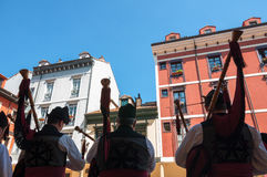 Gaiteros Asturianos Fotografie Stock Libere da Diritti