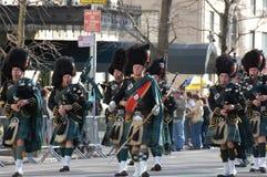 Gaiteros en el desfile del día del St. Patrick de Nueva York Fotografía de archivo