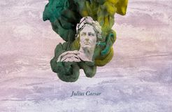 Roman Emperor Julius Caesar vector illustration