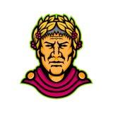 Gaius Julius Caesar Mascot royaltyfri illustrationer