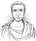 Gaius Julius Caesar portret, wektor royalty ilustracja