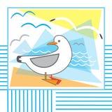 Gaivota de mar Imagem de Stock Royalty Free