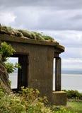 Gaivota na parte superior da fortificação da guerra Foto de Stock Royalty Free