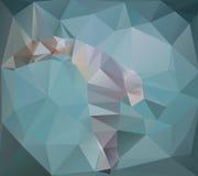 A gaivota poligonal branca em um fundo de turquesa Fotografia de Stock Royalty Free