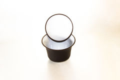 Gaiwan. The Chinese ceramic gaiwan for holding a tea ceremony on a white background Stock Photo