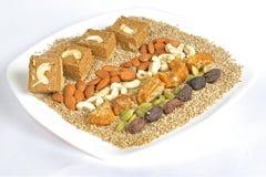 Gajak com frutos secos Fotografia de Stock Royalty Free