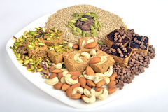 Gajak with dry fruits Stock Photography