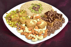 Gajak With Dry Fruits Royalty Free Stock Images