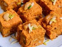 Gajar doce indiano Halwa fotografia de stock