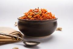 Gajar Halwa или морковь Halwa стоковое изображение rf