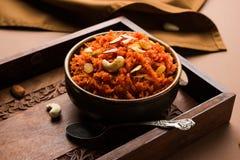 Gajar Halwa или морковь Halwa стоковое фото rf