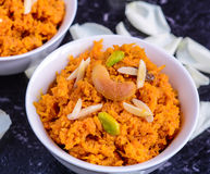 Gajar Halwa. (carrot pudding) Indian Dessert Stock Image