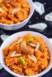 Gajar Halwa. (carrot pudding) Popular Indian sweet Stock Image