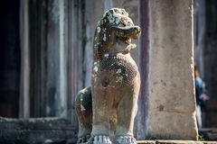 Gajasimha Lion statue in Angkor Wat Complex Stock Image