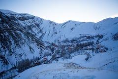 Gajereh village at the morning Royalty Free Stock Photography