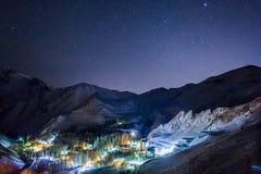 Gajereh village at night Stock Images